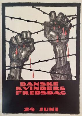 """Sven Brasch: """"Danske Kvinders Fredsdag, 24. Juni"""". 1920, Org. litho vintage poster. 87 x 62. Extremely rare."""